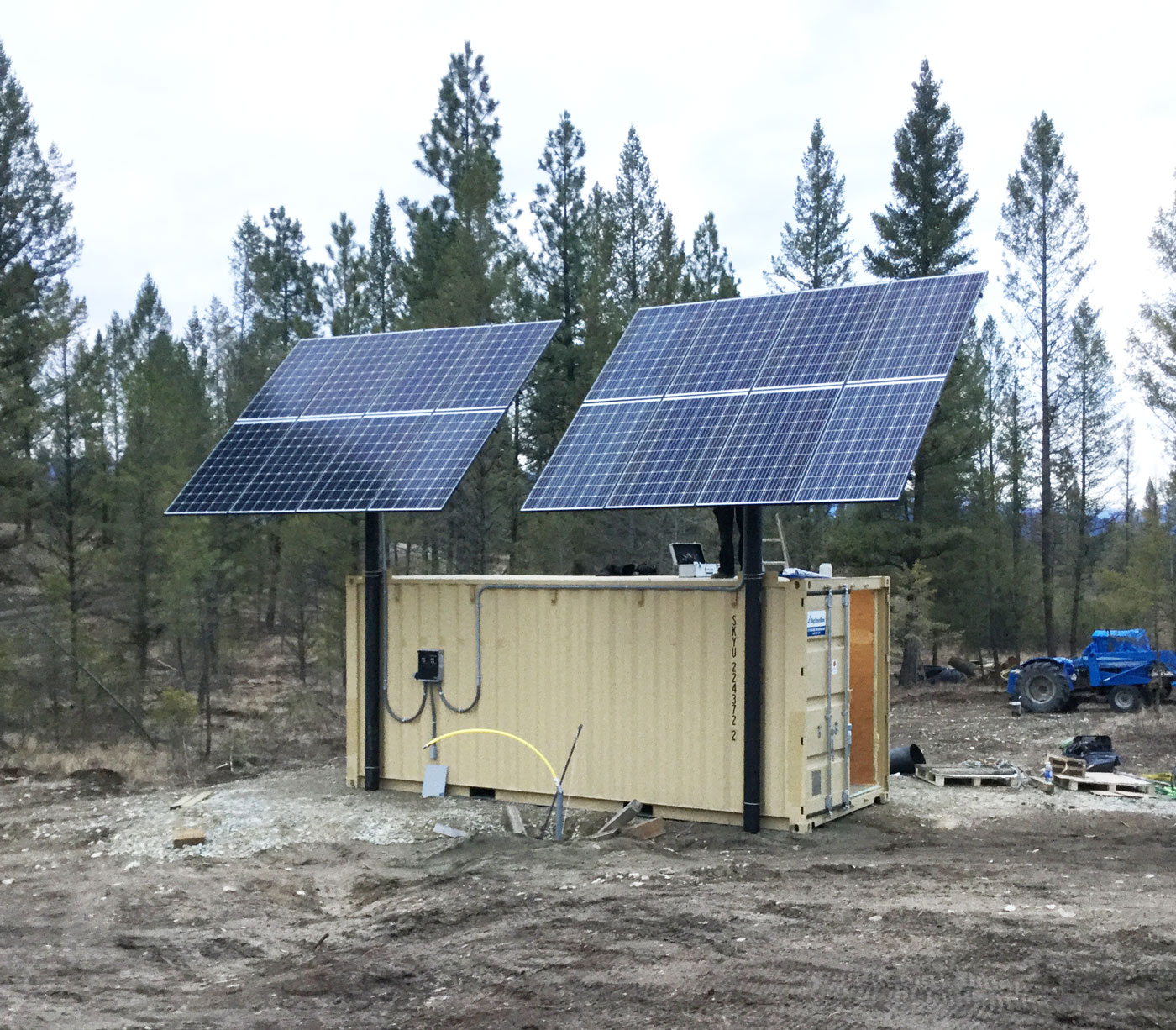 Off Grid Solar Seacan Integrated Power Systems