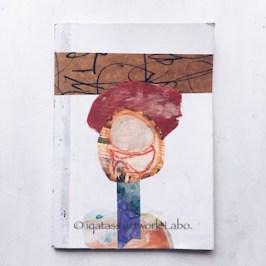 Collage on NoteBook いらないノートの表紙にコラージュしてみました。
