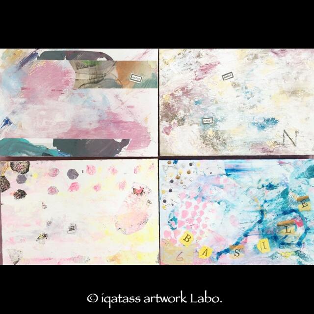 iqatass ArtWork Labo. | イクァタス アートワーク ラボ.主催 楽々アブストラクト・ペインティング ワークショップ