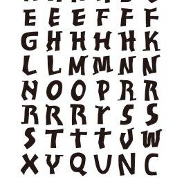 オリジナル アルファベット スタンプ