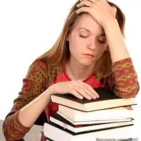 Girl with books 3