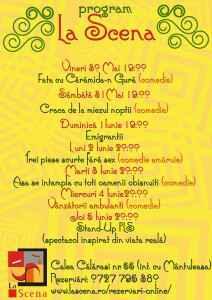Program La Scena 30 Mai - 5 Iunie