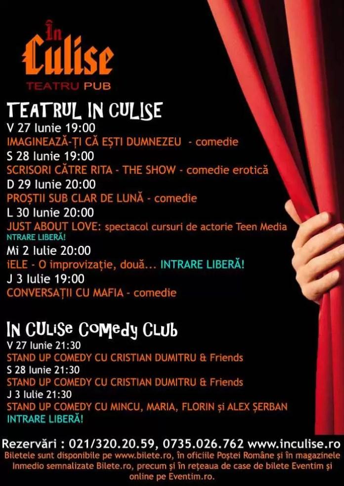 Program In Culise 27-3 Iulie
