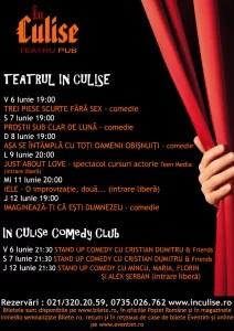 Program In Culise 6 - 12 Iunie