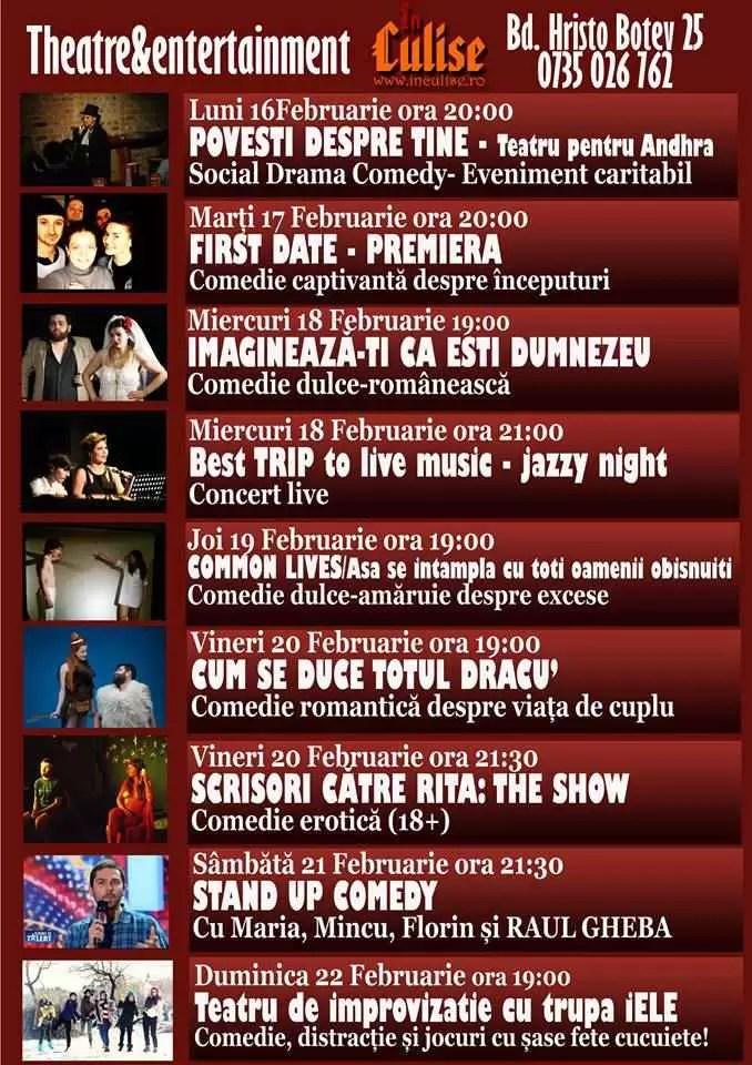 Program In Culise 16-22 Februarie