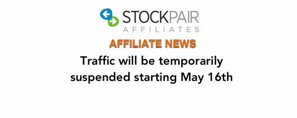 Stockpair traffic suspended
