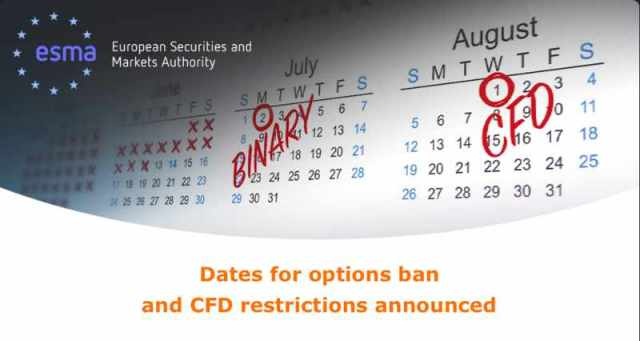 Dates for options ban and CFD restrictions announced
