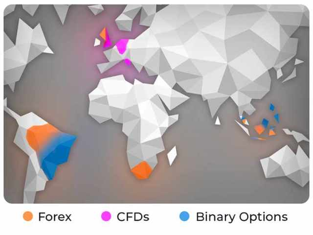 Google graph for Forex Binary Options & CFDs popularity