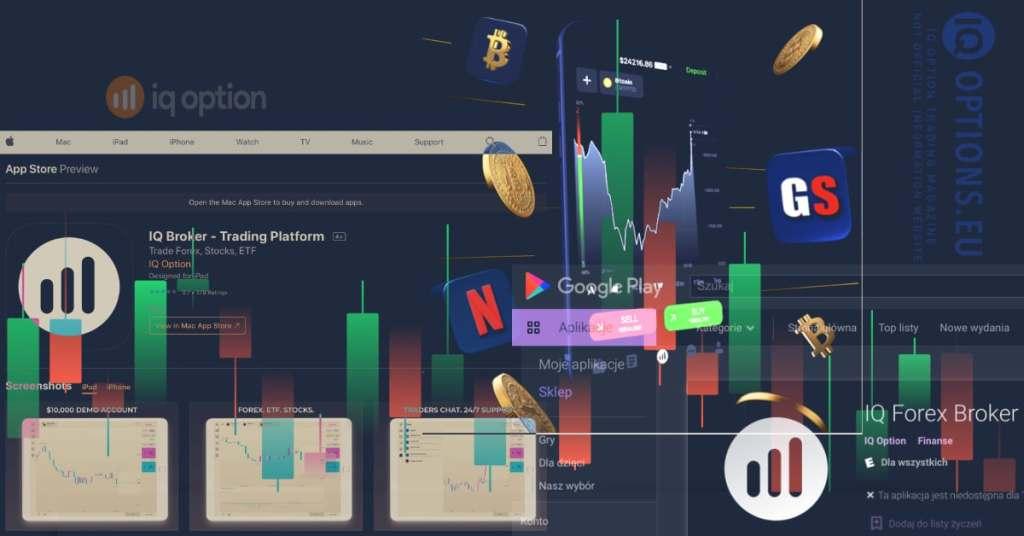 IQOption Broker mengunduh aplikasi di toko apel google store