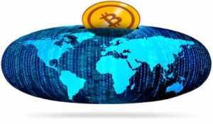 Bitcoin oraz świat - skarbonka, koszyk