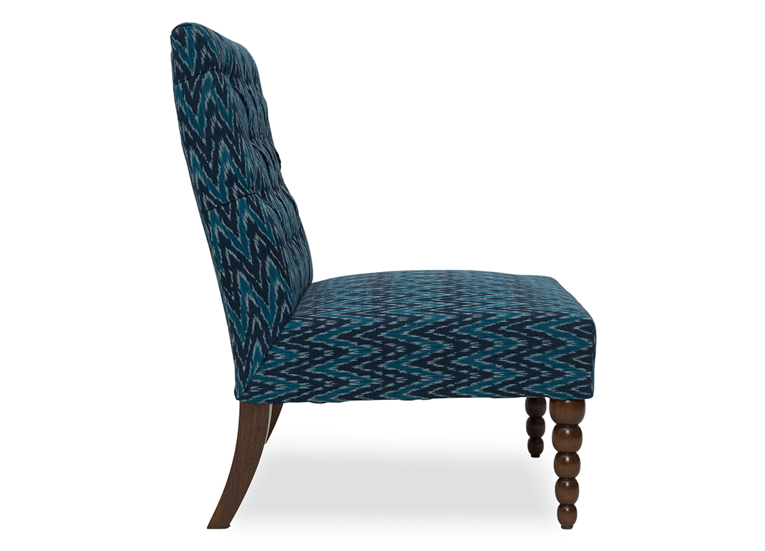 Blue Slipper Chair Dalhousie Slipper Chair Blue Muscat Ikat