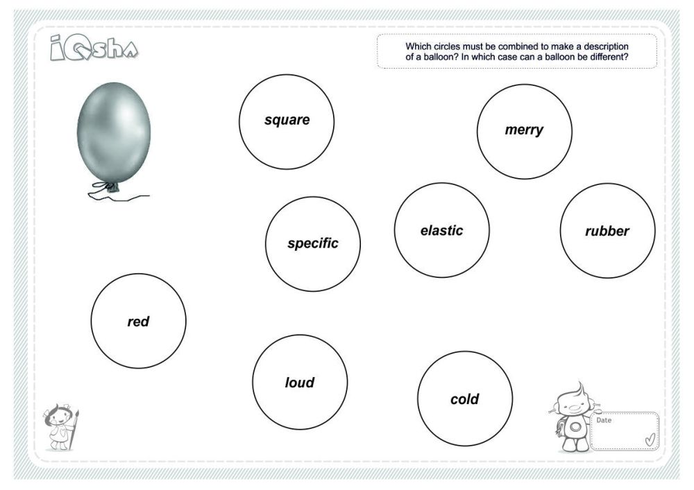 medium resolution of logical circles describe the object it is important for children to pay attention to qualities which are constant though not always for example a jar