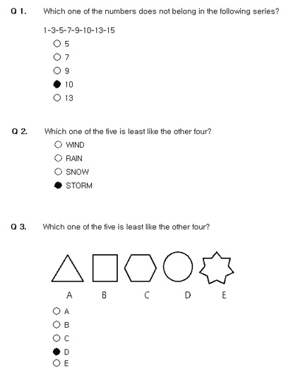 Numerical, Verbal and Spatial Reasoning IQ Test :: Free