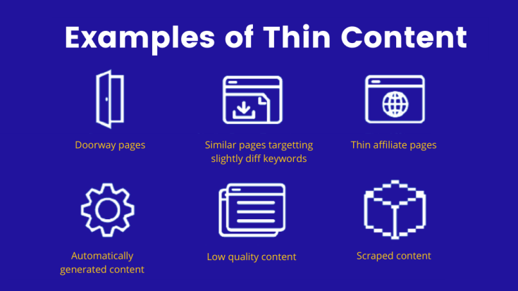 Examples of Thin Content