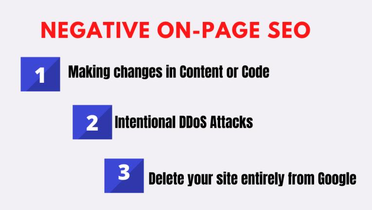 Negative On-Page SEO