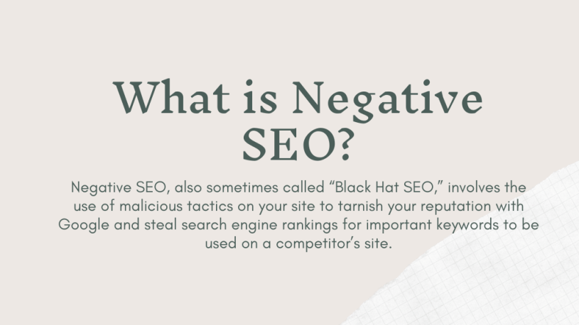 What is Negative SEO