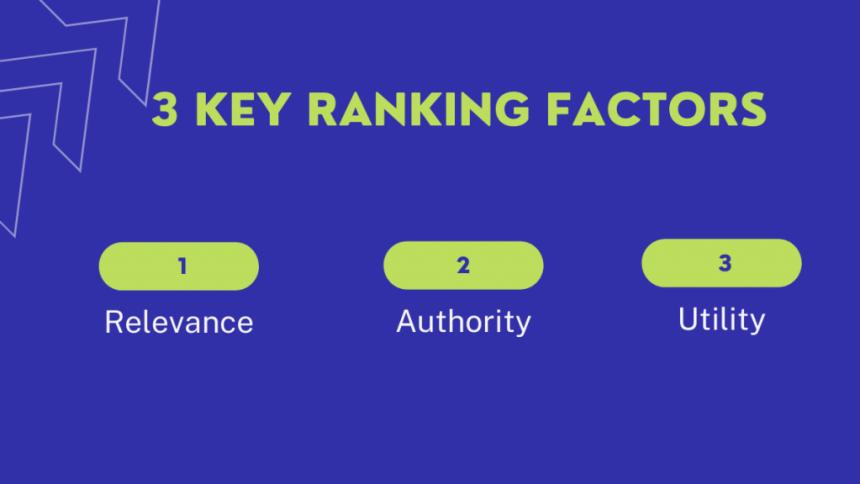 3 key ranking factors
