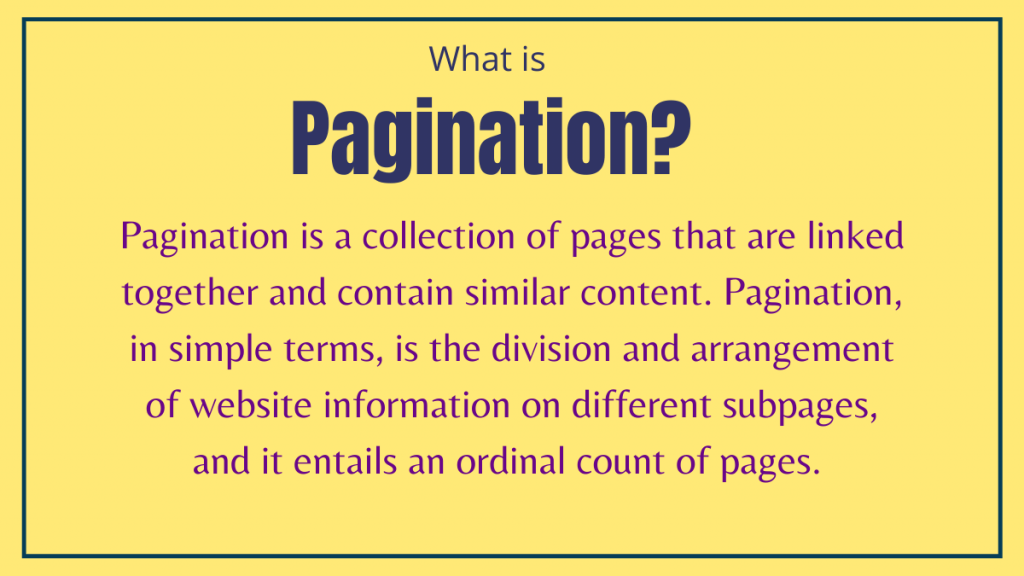 What is Pagination