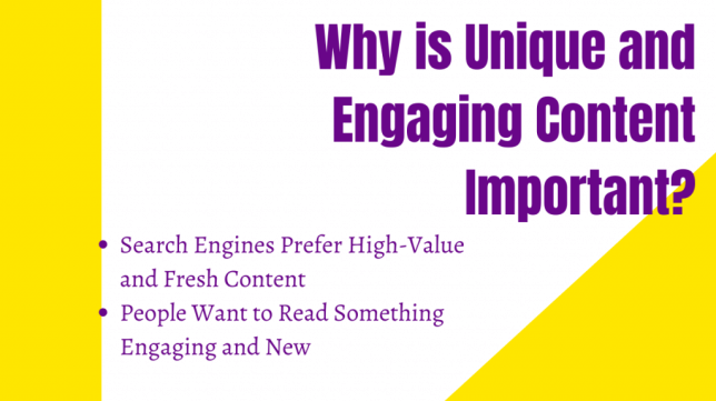 Why is Unique and Engaging Content Important