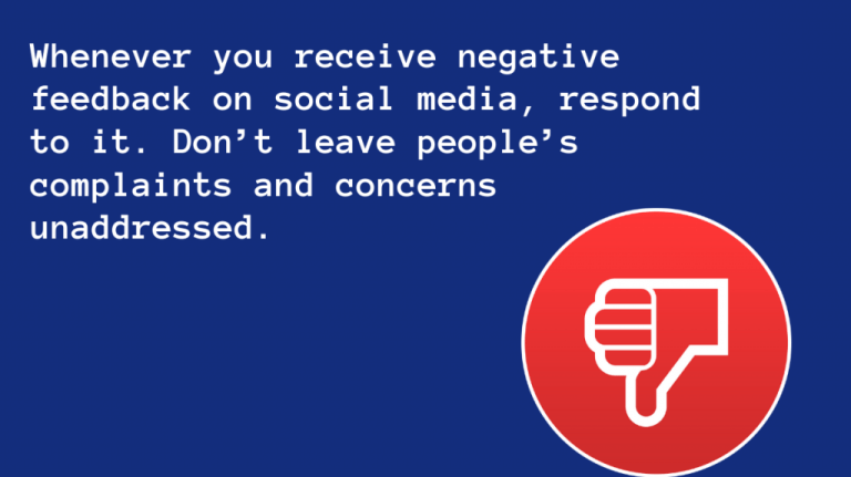 You can receive negative feedback
