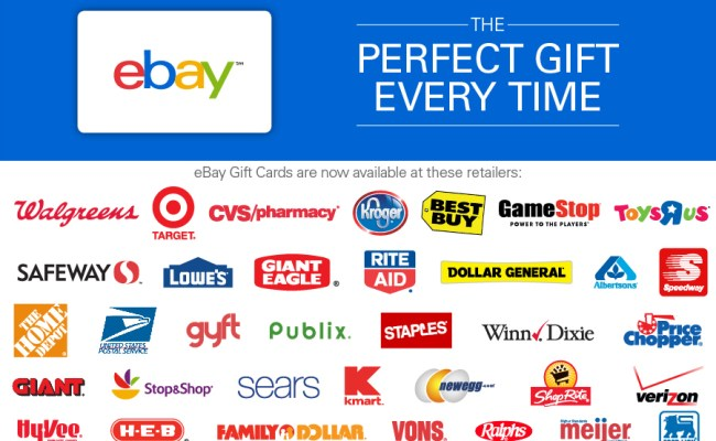 Buy Ebay Gift Cards In Retail Stores