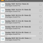 iRace Planner Android App Screenshot