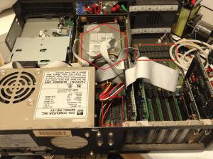 Under the hood of a 8088 XT PC desktop computer