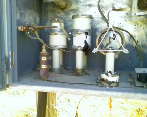 """This is what happened when someone that doesn't know what they are doing changes an """"insulator""""."""
