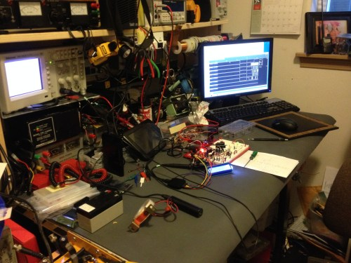 LCD+A/D test on the PIC