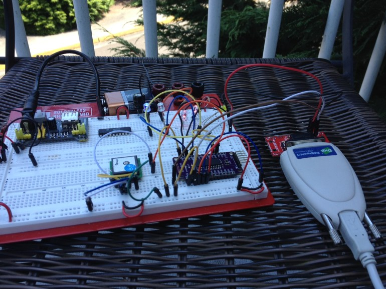 GPS Receiver and Microcontroller outside locked.