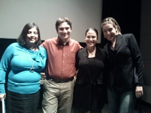 (from left to right) Shilpa Makikar, Geoffrey Booth, Sarna Lapine, Molly Pearson