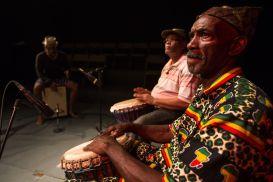 ...recording with Redman Watson and Lion Osuna. © Maria Nunes