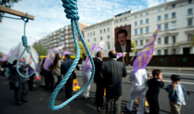 mock-nooses-are-displayed-as-supporters-of-the-pmoi-take-part-in-a-demonstration