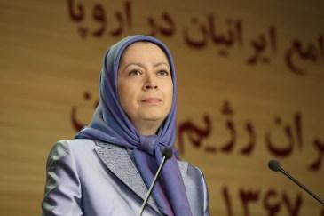 مريم رجوي ندوة الجاليات الايرانية 2
