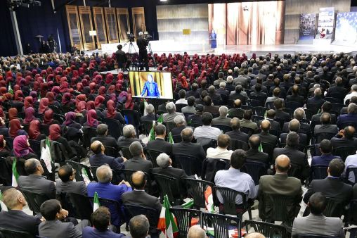 12-Maryam-Rajavi-speaks-to-the-gathering-commemorating-the-sixth-anniversary-of-the-martyrs-of-the-epic-battle-in-Ashraf-on-April-8-2011