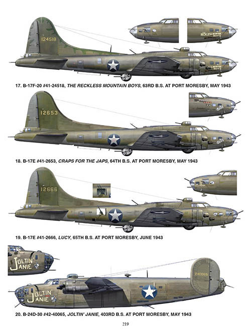 B-17s and a B-24 profile from Ken's Men Against the Empire, Vol. I.