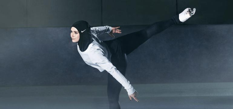 Figure Skater Zahra Lari for Nike Pro Hijab.