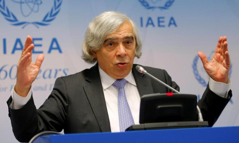 FILE PHOTO: U.S. Secretary of Energy Moniz addresses a news conference during the IAEA general conference in Vienna