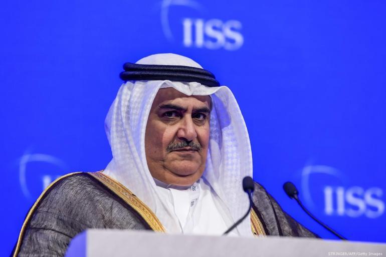 2018_10-27-Bahrains-Foreign-Minister-Sheikh-Khalid-bin-Ahmed-Al-KhalifaGettyImages-1054124238