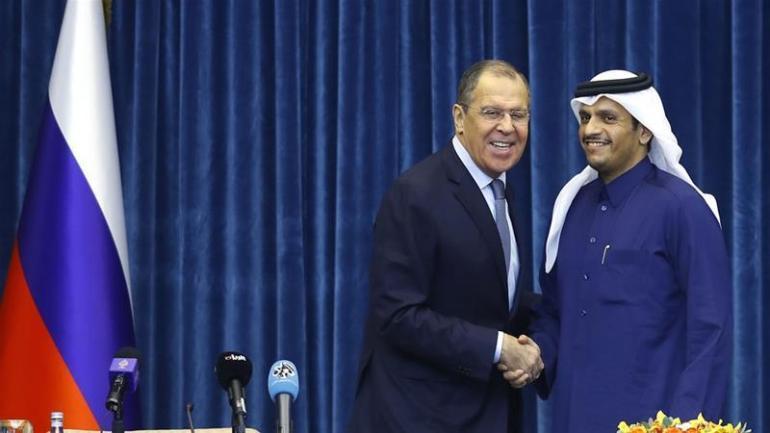 Qatar Russia presser