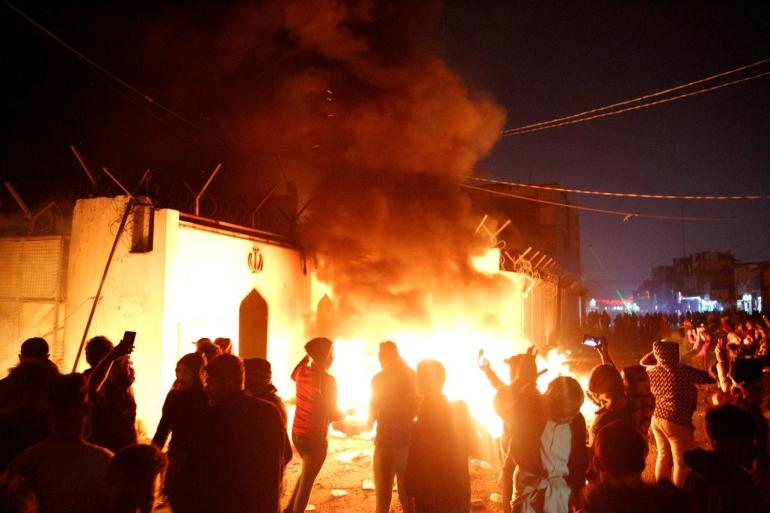 najaf burning