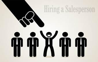 hiring salesperson استخدام نیروی فروش