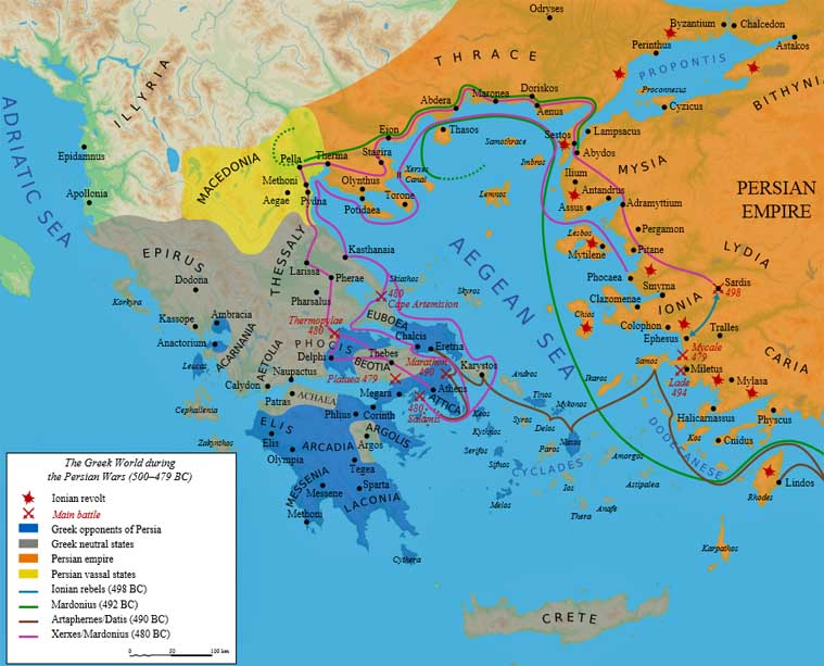 Athenian And Spartan War Map
