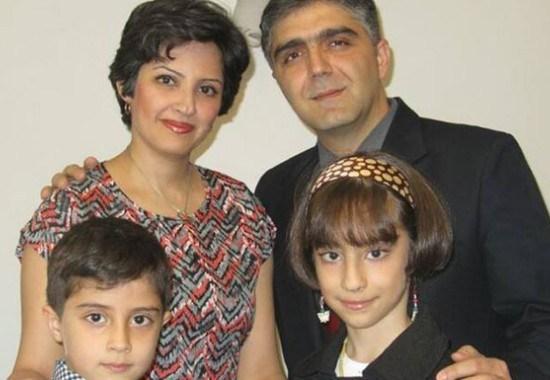 Sahba Farnoush with his family