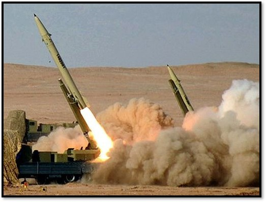 Un Fateh-110 tiré dans un jeu de guerre iranien