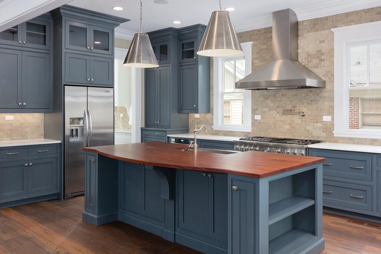 blue kitchen appliances table rug interiors atlanta real estate photographer  iran watson