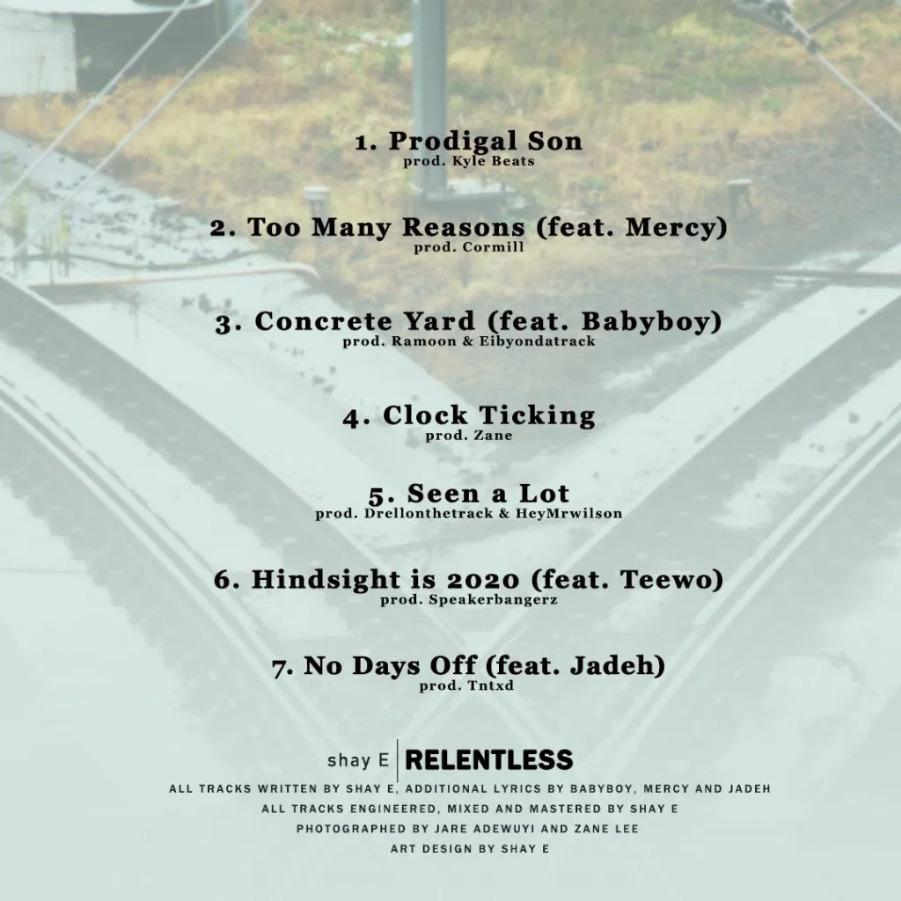 Relentless tracklist