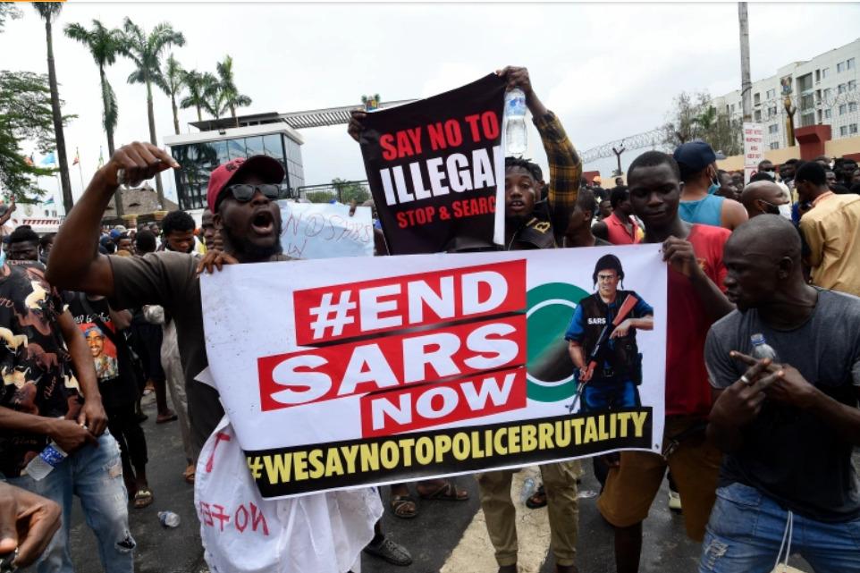 #EndSARS Nigerians protest against police brutality