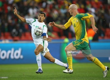 of South Africa of Iraq during the opening match of the FIFA Confederations Cup between South Africa and Iraq at Ellis Park Stadium on June 14, 2009 in Johannesburg, South Africa.