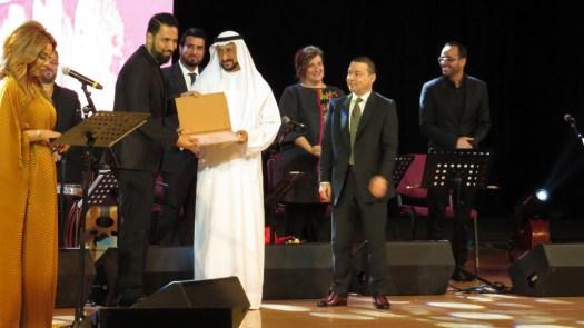تكريم الفنان حسام صدام عازف الايقاعات ومنسّـق الفرقة